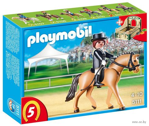 """Игровой набор """"Объездная лошадь со стойлом"""""""