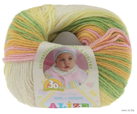 "Пряжа ""ALIZE. Baby Wool Batik Design №4390"" (50 г; 165 м) — фото, картинка"