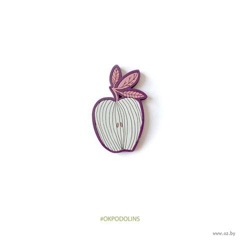 """Значок """"Яблоки полосатые"""" (арт. 5-7) — фото, картинка"""