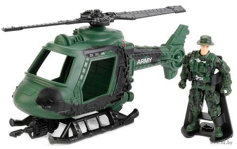 """Игровой набор """"Армейский вертолёт"""" (со световыми и звуковыми эффектами) — фото, картинка"""