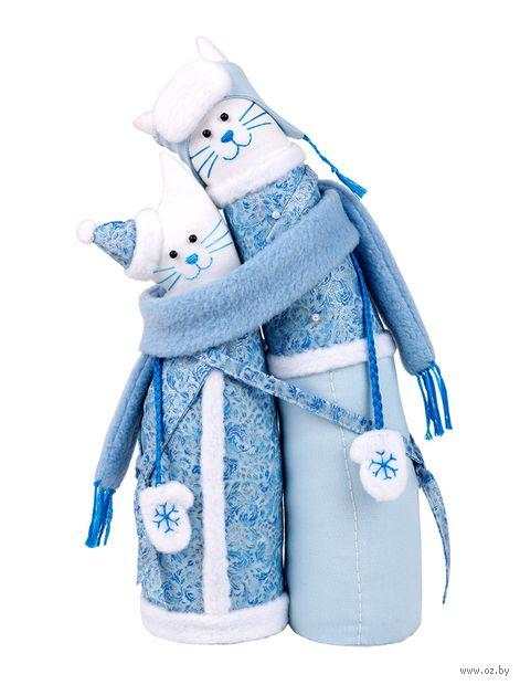 """Набор для шитья из ткани """"Коты-обнимашки. Зимние"""" — фото, картинка"""