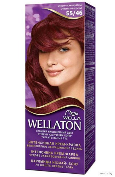 """Крем-краска для волос """"Wellaton. Интенсивная"""" (тон: 55/46, экзотический красный) — фото, картинка"""