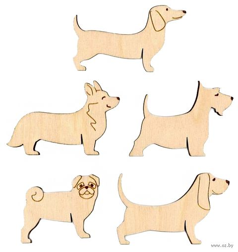 """Набор бобин для ниток """"Собаки"""" (10 шт.) — фото, картинка"""