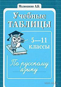Учебные таблицы по русскому языку. 5-11 классы. Александр Малюшкин