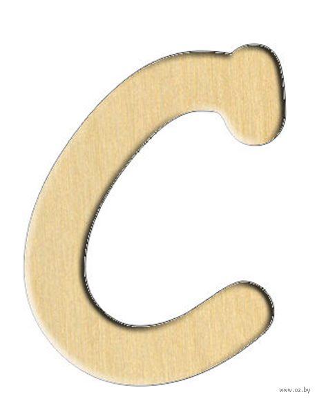"""Заготовка деревянная """"Английский алфавит. Буква C"""" (23х30 мм)"""