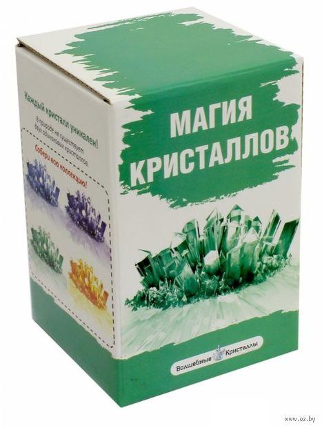 """Набор для выращивания кристаллов """"Магия кристаллов. Зеленый"""" — фото, картинка"""