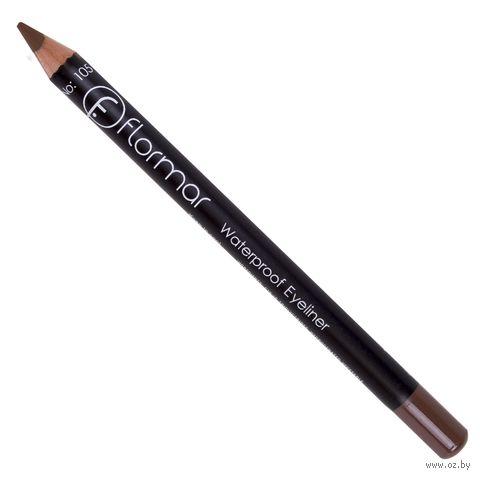 "Карандаш для глаз ""Waterproof Eyeliner"" водостойкий (тон: 105, warm brown) — фото, картинка"