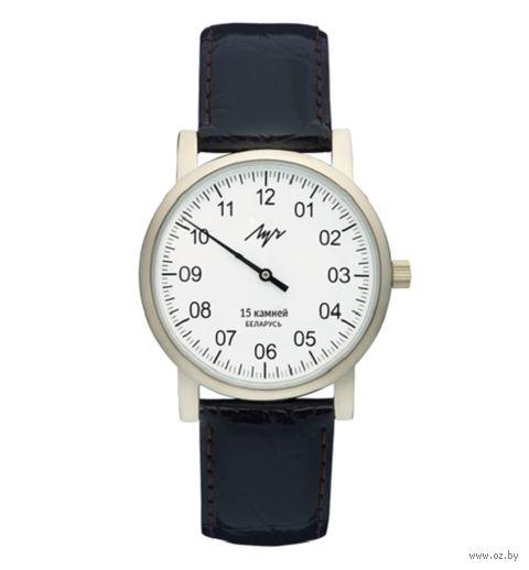 """Часы наручные """"Однострелочник"""" (чёрные; арт. 337477760) — фото, картинка"""