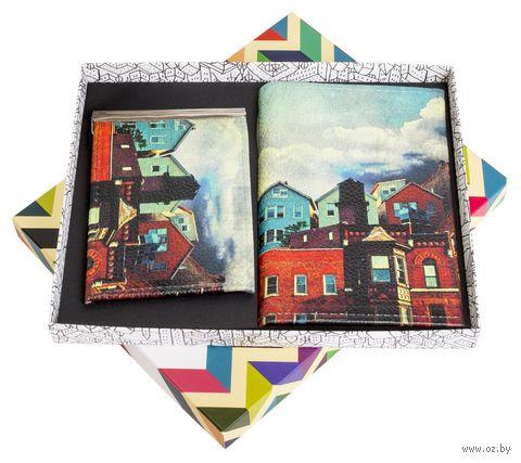 """Подарочный набор """"Рейкьявик"""" (обложка на паспорт и зажим для денег) — фото, картинка"""