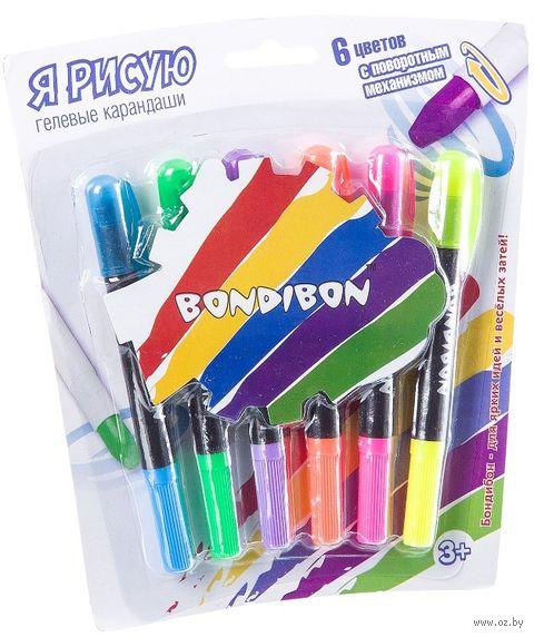 Набор карандашей цветных гелевых (6 цветов) — фото, картинка