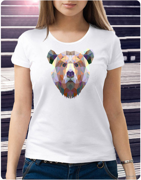 """Футболка женская """"Медведь"""" XL (art.59)"""