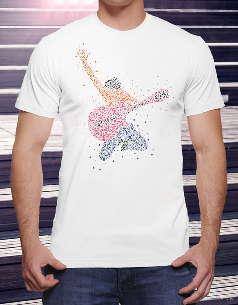 "Футболка мужская ""Гитарист"" XL (art.14)"