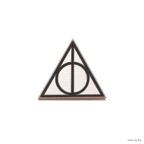 """Значок деревянный """"Гарри Поттер. Дары смерти"""" (черный)"""