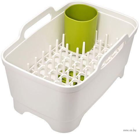 Набор для мытья и сушки посуды (белый) — фото, картинка
