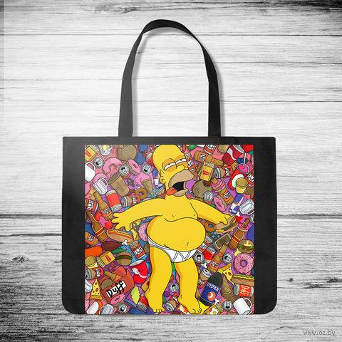 """Сумка-шоппер """"Гомер Симпсон"""" — фото, картинка"""