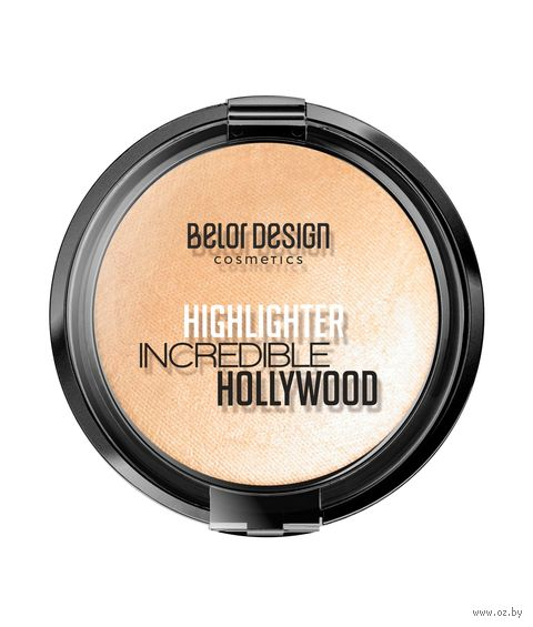 "Хайлайтер для лица ""Incredible Hollywood"" тон: 01, золотистый — фото, картинка"