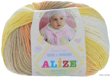 "Пряжа ""ALIZE. Baby Wool Batik Design №4797"" (50 г; 165 м) — фото, картинка"