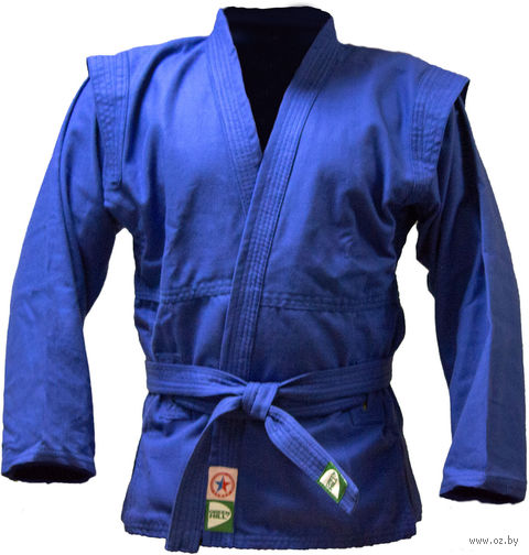 Куртка для самбо JS-302 (р. 3/160; синяя) — фото, картинка