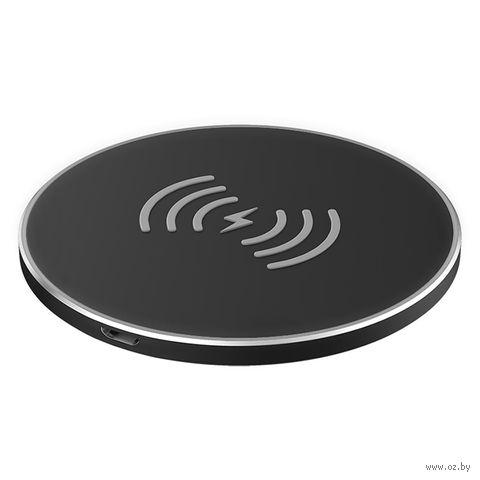 Беспроводное ЗУ Olmio 10W Quick Charge (черное) — фото, картинка