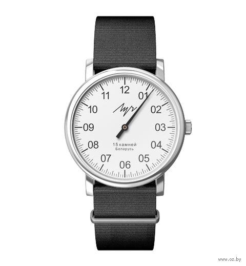 """Часы наручные """"Однострелочник"""" (чёрные; арт. 77471768) — фото, картинка"""