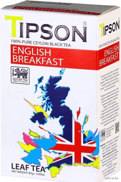 """Чай черный листовой """"Tipson. English Breakfast"""" (85 г) — фото, картинка"""