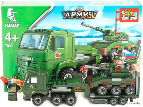 "Конструктор ""Армия. КамАЗ: перевозчик с танком"" (185 деталей) — фото, картинка"