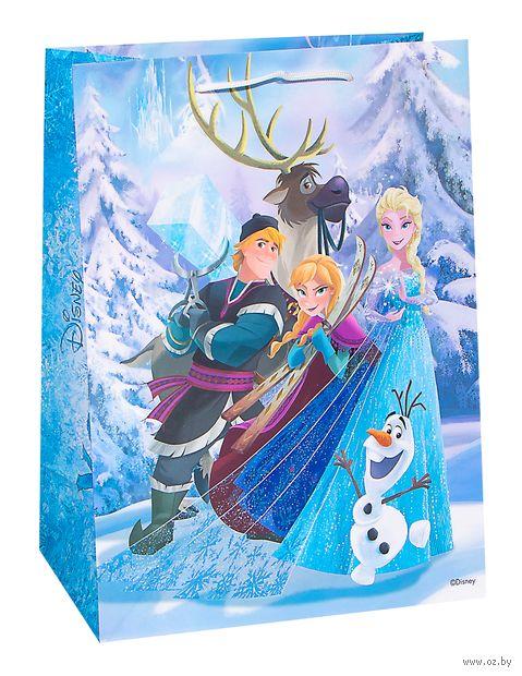 """Подарочный пакет """"Холодное Сердце: Все в сборе"""" (32,4x26x12,7 см) — фото, картинка"""