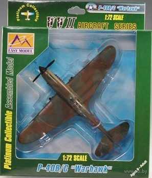"""Самолет """"Томагавк"""" IIb 154-й ИАП авиации ВМФ, 1942г. (масштаб: 1/72) — фото, картинка"""