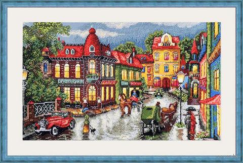 "Вышивка крестом ""Старый город"" (330х200 мм) — фото, картинка"