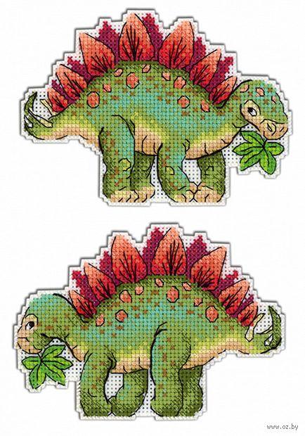 """Вышивка крестом """"Динозавры. Стегозавр"""" (90х130 мм) — фото, картинка"""