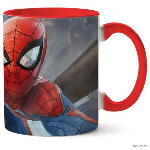 """Кружка """"Человек-паук"""" (красная) — фото, картинка"""