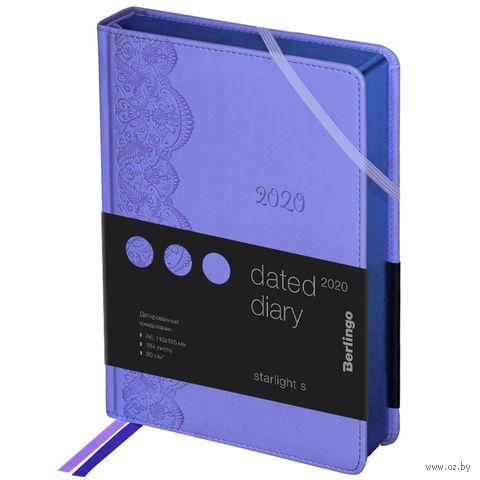 """Ежедневник датированный """"Starlight S"""" (А6; фиолетовый; 2020) — фото, картинка"""