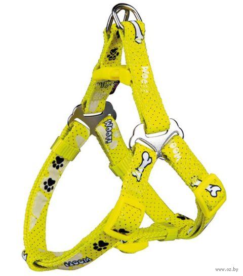 "Шлея для собак ""Modern Art Harness Woof"" (размер XS-S; 30-40 см; желтый)"