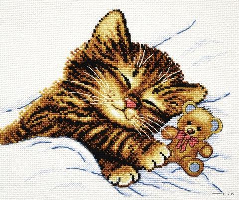 """Вышивка крестом """"Уютный сон"""" (220x180 мм) — фото, картинка"""