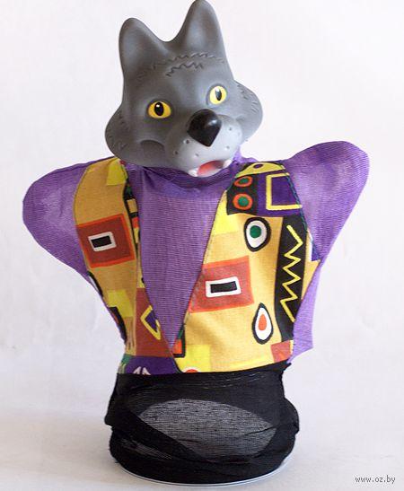 """Мягкая игрушка на руку """"Волк"""" (25 см)"""
