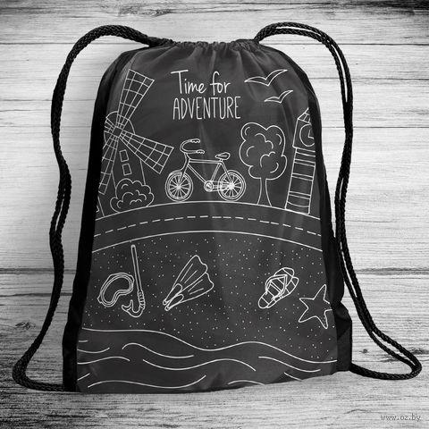 """Рюкзак-мешок """"Time for adventure"""" (арт. 4) — фото, картинка"""