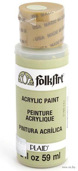 "Краска акриловая ""FolkArt"" (зеленый базилик, 59 мл; арт. PLD-00645)"