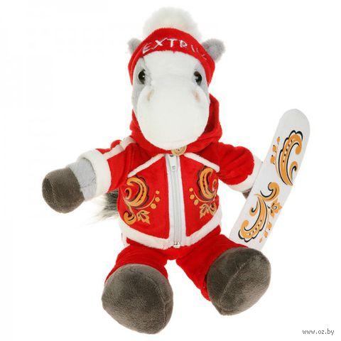 """Мягкая игрушка """"Конь-сноубордист"""" (22 см)"""