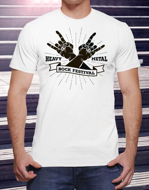 """Футболка мужская """"Heavy Metal"""" (размер 52; art. 16)"""