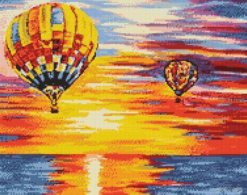 """Алмазная вышивка-мозаика """"Воздушное путешествие"""" (480х380 мм) — фото, картинка"""