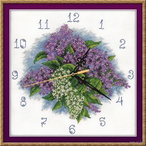 """Вышивка крестом """"Часы. Счастливый лепесток"""" (300х320 мм) — фото, картинка"""