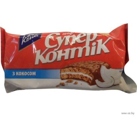 """Печенье """"Супер Контик. С кокосом"""" (100 г) — фото, картинка"""