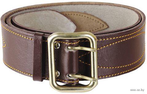 Ремень кожаный (125 см; коричневый) — фото, картинка