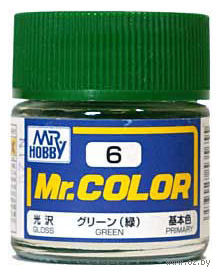 Краска Mr. Color (green, C6)