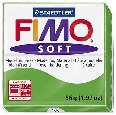 """Глина полимерная """"FIMO Soft"""" (тропический зеленый; 56 г) — фото, картинка"""
