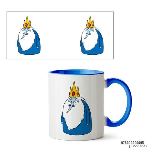 """Кружка """"Ледяной король. Время приключений"""" (095, голубая)"""