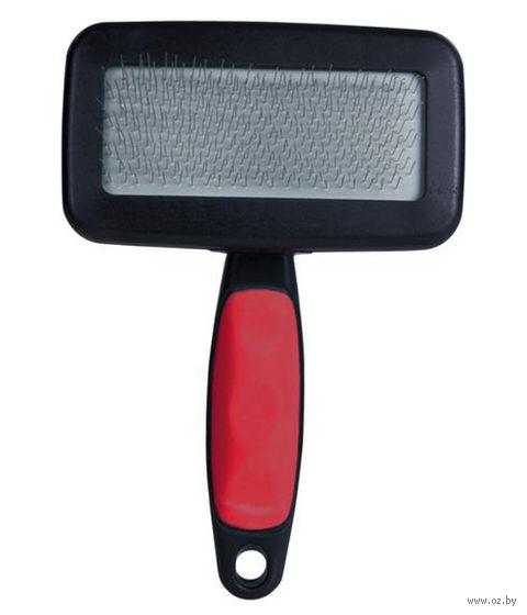 Щетка-пуходерка с гребешком для ухода за шерстью (12x19 см) — фото, картинка