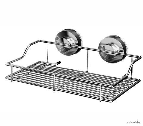 Полка для ванной металлическая на присосках (350х187х95 мм) — фото, картинка