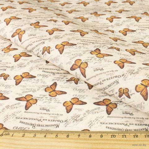 "Ткань ""Винтажные бабочки"" (48х50 см; арт. AM625008) — фото, картинка"