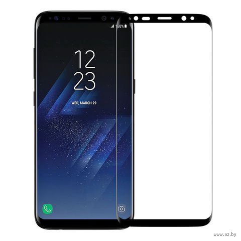 "Защитное стекло Nillkin для Samsung Galaxy S8 ""3D AP+PRO"" (черное) — фото, картинка"